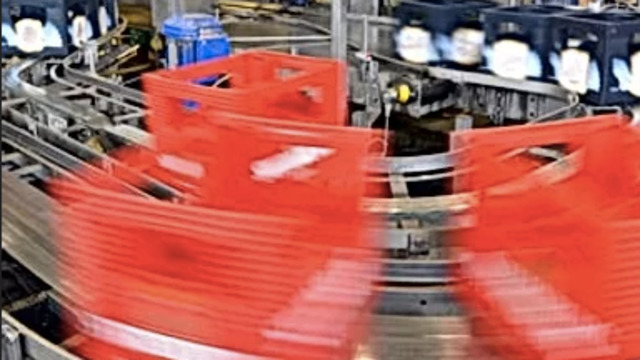 machinery in factory moving by quickly